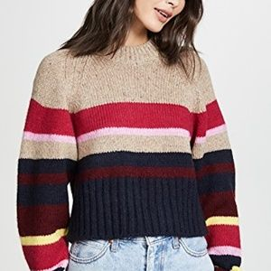 Current/Elliott The Moonshine Striped Cropped Swea